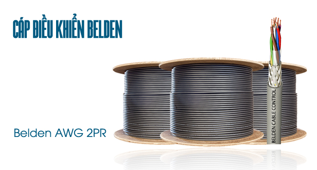 Cáp điều khiển Belden 22AWG 2Pair